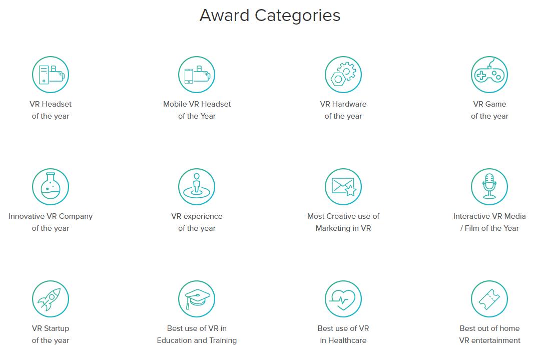 Les catégories des nominations aux VR Awards 2017