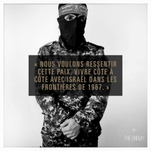 Citation combattant palestinien expérience VR The Enemy
