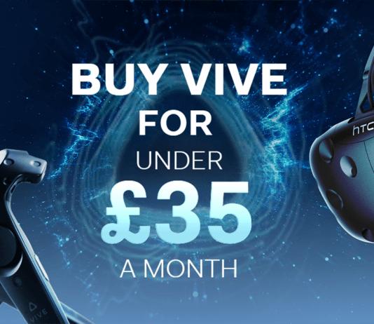 L'offre de financement du HTC Vive par mensualités au Royaume-Uni